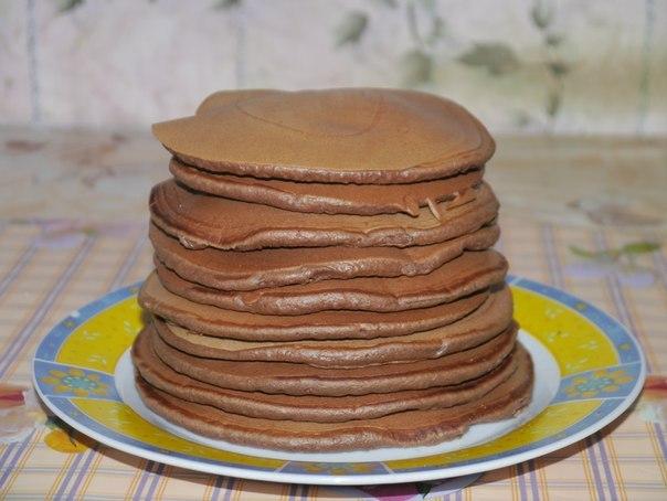 Чоко-панкейки на завтрак, чоко-панкейки рецепт - на