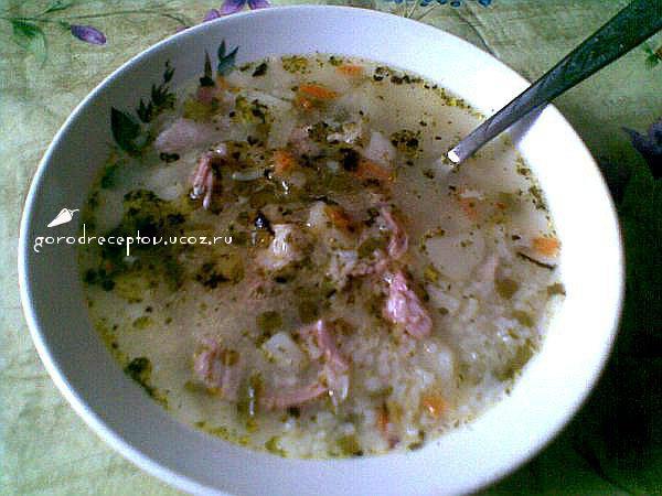 суп картофельно рисовый со свининой рецепт